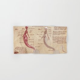 Anatomy of the Mermaid Hand & Bath Towel