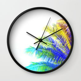 Fantasic Rainbow Palm Tree Wall Clock