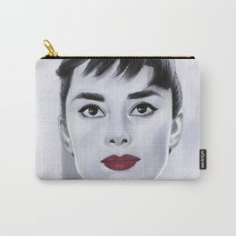 Audrey with red Carry-All Pouch