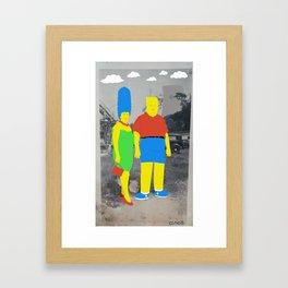 Mommy and Me Framed Art Print