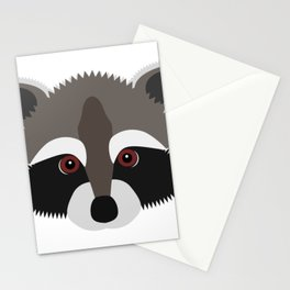 Raccoon Face Stationery Cards