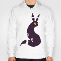 umbreon Hoodies featuring Shiny Umbreon-like cat rabbit fox  by Criminal Crow
