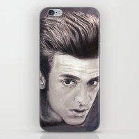 garfield iPhone & iPod Skins featuring Garfield smoulder by Lauren Elena
