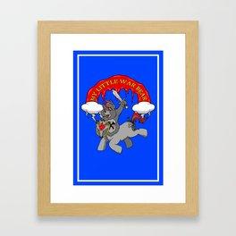 MY LITTLE WAR BEAR Framed Art Print