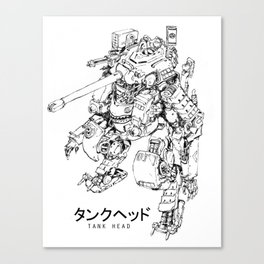 TankHead (Lineart)  Canvas Print