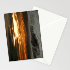 Winter Shorebreak at Sunset Stationery Cards