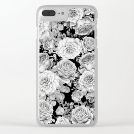 ROSES ON DARK BACKGROUND Clear iPhone Case