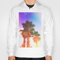 palms Hoodies featuring Palms by Neon Wildlife