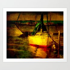 Sails at Rest Art Print