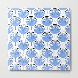 Spring Blues - Dandelion Metal Print