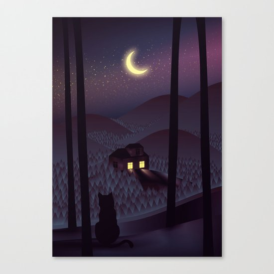 Silent Watcher Canvas Print