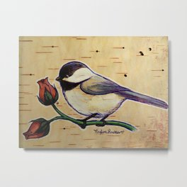 Smol Wildbird Metal Print