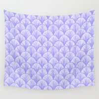 scales Wall Tapestries featuring Periwinkle Scales by michiko_design