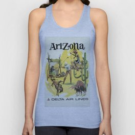 Vintage poster - Arizona Unisex Tank Top