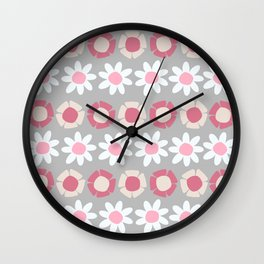 Peggy Pink Wall Clock