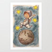 Space Boy Art Print