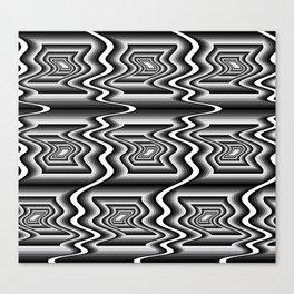 Grey Optical Pattern Canvas Print