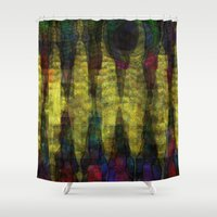 teeth Shower Curtains featuring Dragon's Teeth by mimulux