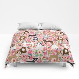 Pitbull florals mixed coats pibble gifts dog breed must have pitbulls florals Comforters