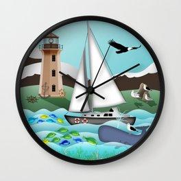 Nautical Goodies Wall Clock