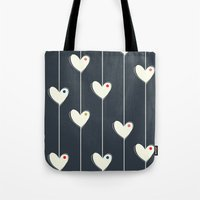 calendars Tote Bags featuring Heart  by Shabby Studios Design & Illustrations ..