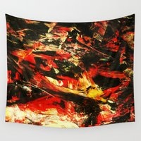 camp Wall Tapestries featuring Camp Fire by a collection. James Peart