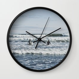 Newport Beach Surfing Wall Clock
