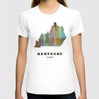 kentucky T-shirts featuring Kentucky state map modern by bri.buckley