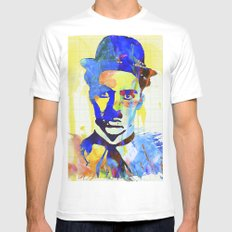 charlie chaplin 04 White SMALL Mens Fitted Tee