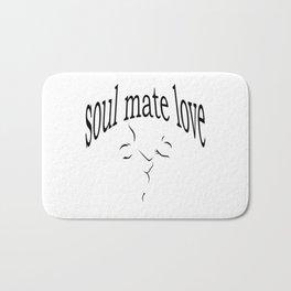 Soul mate love Bath Mat