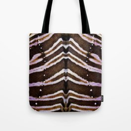 whit and brown pattern Tote Bag