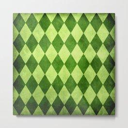 Green Harlequin Grunge Metal Print