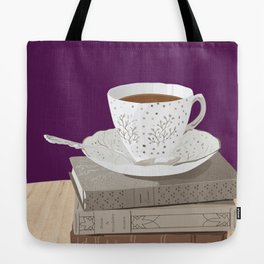 Teacup, Jane Austen, & Charlotte Brontë Books Tote Bag