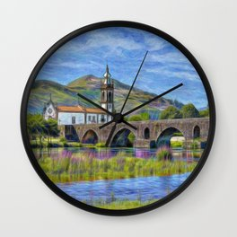 Sao Antonio, Ponte de Lima, Portugal Wall Clock