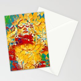 6759s-KMA The Woman in the Stained Glass Sensual Feminine Energy Emerging Stationery Cards