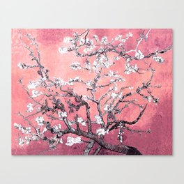 Van Gogh Almond Blossoms : Peachy Pink Canvas Print