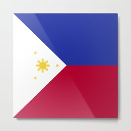 Philippines flag emblem Metal Print