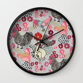 Rooster Toss Wall Clock