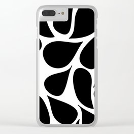Abstract Black & White Foliage Pattern - Mix and Match with Simplicity of Life Clear iPhone Case