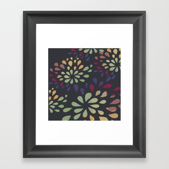 Dark drops 2 Framed Art Print