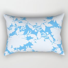 light floral silhouette on sky blue Rectangular Pillow