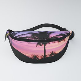 Sunset Palm Trees Fanny Pack
