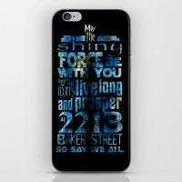 fandom iPhone & iPod Skins featuring Fandom Motto by Tracey Gurney