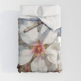 Almond Blossom Study Watercolor Comforters