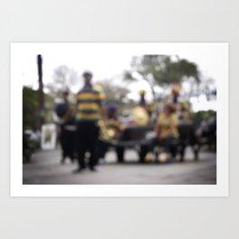 Mardi Gras Brass Band Art Print