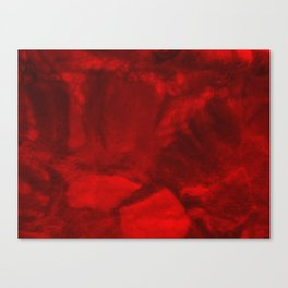 Vibrant Red Coral Wool Canvas Print