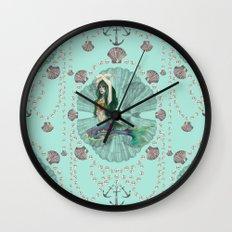 Mermaid Deco Wall Clock