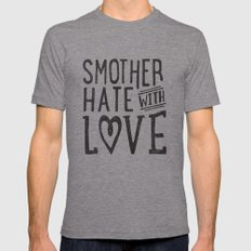 Smother Hate Mens Fitted Tee Tri-Grey MEDIUM