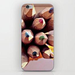 Wood Color Pencils iPhone Skin
