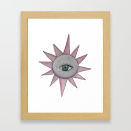 eye art 1 colored Framed Art Print